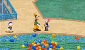 Jugador entregando los bloques gumi