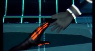 Sora reaches for Tron's Hand