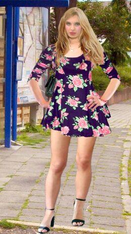 Sandra Weiss (Pain88) Floral Skaterdress 02.jpg