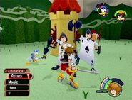 Kingdom Hearts combattimento