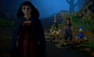 Moeder Gothel ontmoet Sora en sy vriende 01