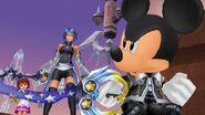 Mickey, Aqua y Kairi (KHBbSFM) en KHHD1.5+2.5
