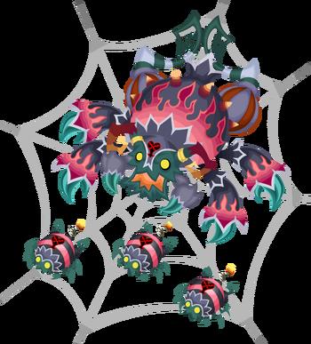 Avec des araignées