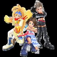 Yuna, Rikku y Paine Gaviotas KH2