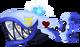 Blue Trident Tail KHX