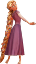 Rapunzel met gevlegte hare KHIII