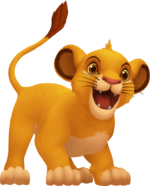 Young Simba from flashbacks in Kingdom Hearts II.