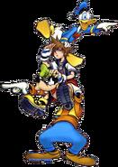 Sora, Donald and Goofy (Art) KHI