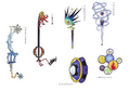 Weapons from KH1 concept art 3
