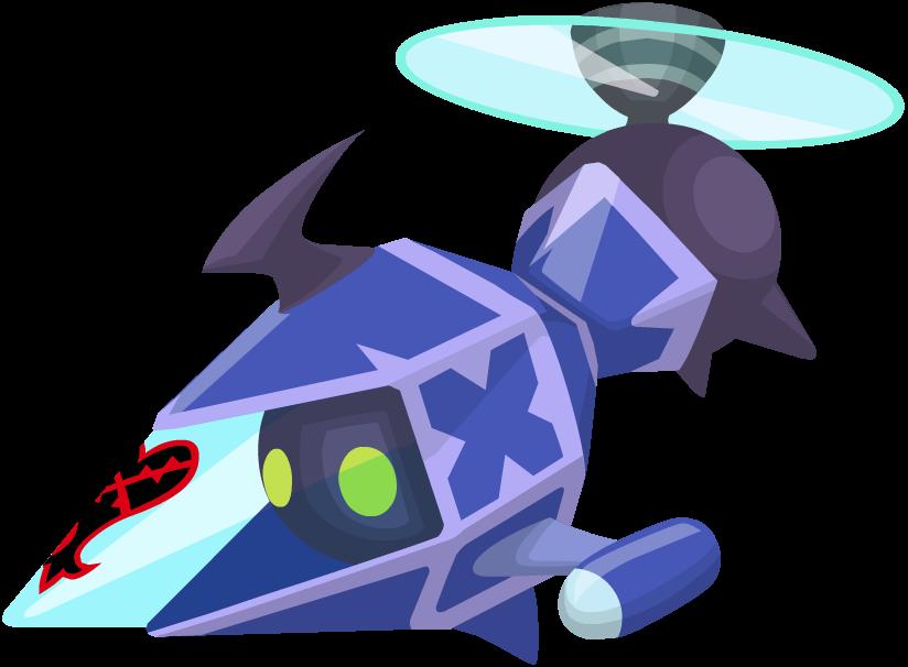Blue Gummi Copter