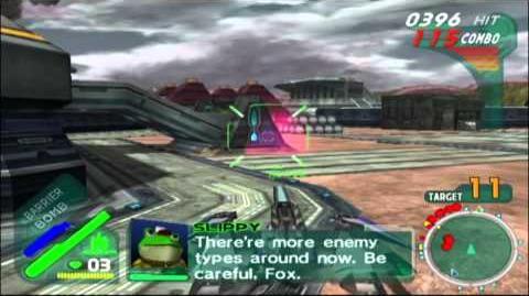 Starfox Assault Gold Walkthrough Part 2 - Frontier Base Battle