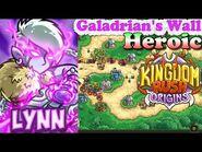Kingdom Rush Origins HD - Galadrian's Wall Heroic (Level 16) Hero Lynn
