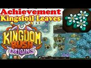 Kingdom Rush Origins - Achievement Kingsfoil Leaves - Give regeneration 25 times to the same soldier
