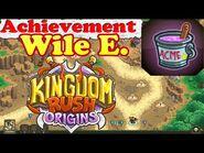 Kingdom Rush Origins - Secrets Achievement Wile E. - Help Wile E