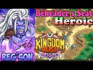 Kingdom Rush Origins HD - Beheader's Seat Heroic (Level 20) Hero Reg'son
