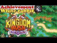 Kingdom Rush Origins HD - Secrets Achievement White rabbit - Scare 11 idle white rabbits