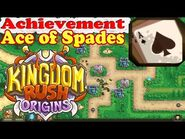 Kingdom Rush Origins - Achievement Ace of Spades - Complete Stage 5 without building any barracks