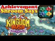 Kingdom Rush Origins - Secrets Achievement Shroom Says - Complete 9 tap challenge of the Shroom game