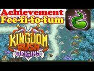 Kingdom Rush Origins - Secrets Achievement Fee-fi-fo-fum - Grow the beanstalk to the clouds