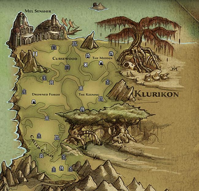 Карта региона Klurikon