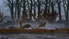 Boar chasing King on stag