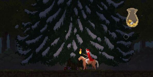 Christmas tree sans ornaments