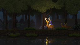 Stag and deer