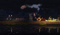 Crown Stealer in fire