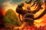 Kong skull island kong vs ramarak artwork by awesomeness360-daxac9b