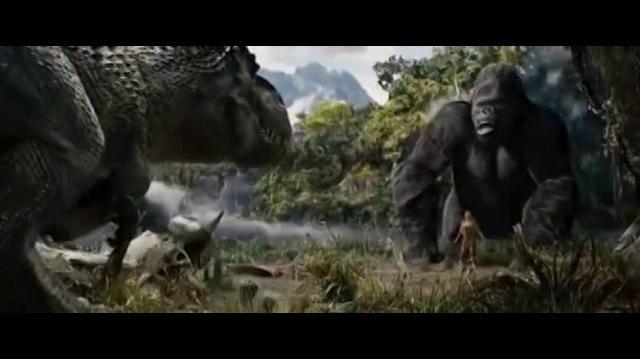 KING KONG vs T-REX ( FIGHT )