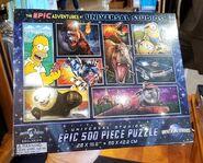 The Epic Adventures at Universal Studios 500 Piece Puzzle