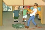 Bobby-plays-with-the-garage-door-opener