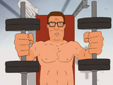 Hank Exercising and Determined