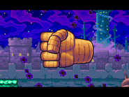 Rock hand Appears
