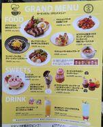 Kirby Cafe menu interior