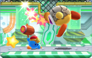 Custom Hammer Kirby fighting a mechanically-modified King Doo