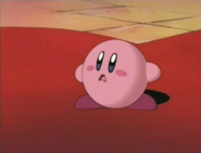 Kirby witnesses the hypnotized Dedede