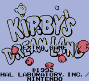 KDL Title Screen Extra
