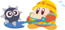 PPPTrain Waddle Dee with shovel artwork