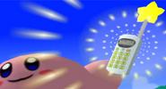 Kirby Holding Phone