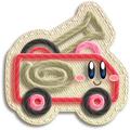Kirby Camión de Bomberos Artwork