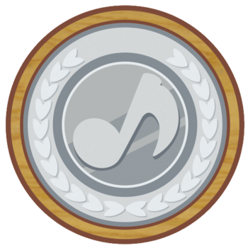 Silver Musical Coin