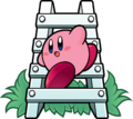 KSSU Kirby on ladder artwork