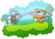 Kirby's Epic Yarn Artwork