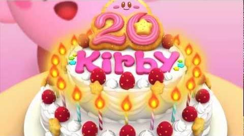 Kirby 20th Anniversary Japanese official site intro