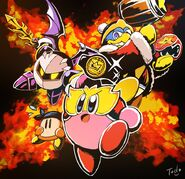 Kirby Fighters 2 HAL Twitter