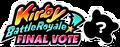 KBR Final Vote logo