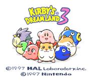 Kirby's Dream Land 3 Title Screen