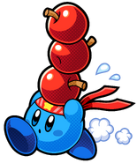 KBR Blue Fighter Kirby Artwork