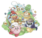Kirby Café group artwork